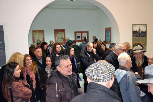 Публика на отварању изложбе Штампана реч 2014