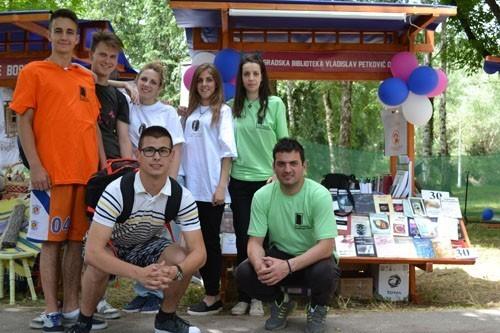 Штанд Библиотеке на фестивалу ДУК Чачак 2016